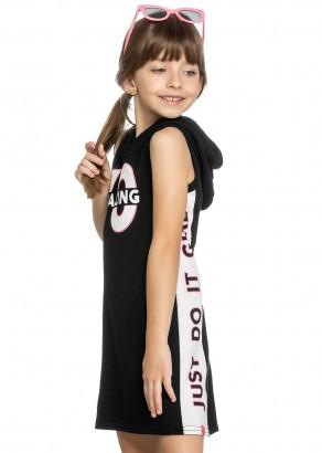 Vestido Infantil Verão Preto Amazing Elian