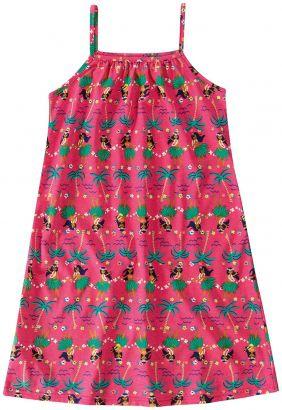 Vestido Infantil Verão Rosa Aloha Malwee