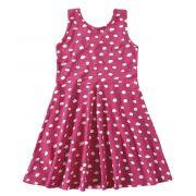 Vestido Infantil Verão Rosa Bolinha Malwee