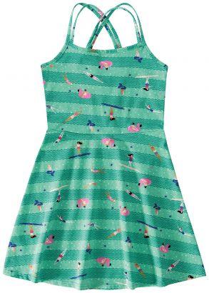 Vestido Infantil Verão Verde Flamingo Malwee