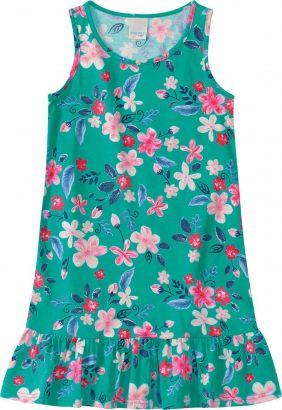 Vestido Infantil Verão Verde Floral Malwee