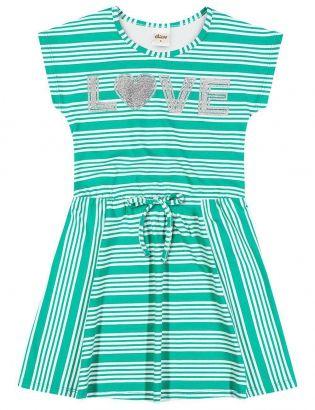 Vestido Infantil Verão Verde Love Elian