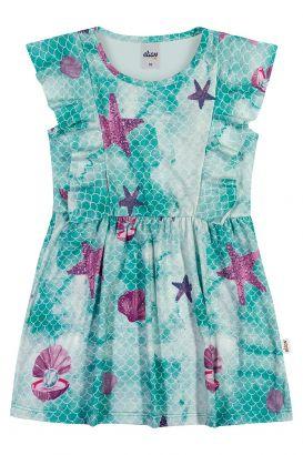 Vestido Infantil Verão Verde Sea Elian