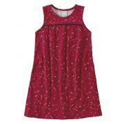 Vestido Infantil Verão Vermelho Flechas Malwee