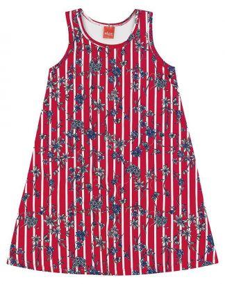 Vestido Infantil Verão Vermelho Floral Elian