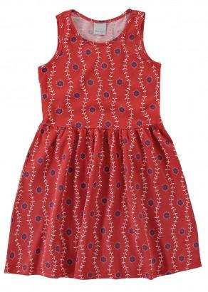 Vestido Infantil Verão Vermelho Flores Malwee