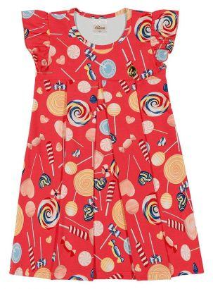 Vestido Infantil Verão Vermelho Lollipop Elian