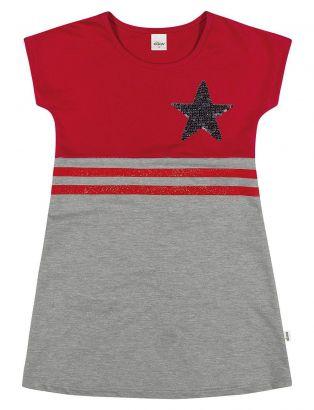 Vestido Infantil Verão Vermelho Star Elian