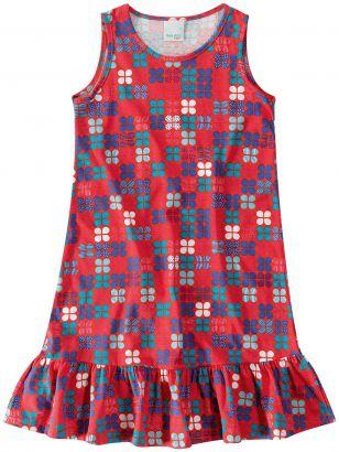 Vestido Infantil Verão Vermelho Trevo Malwee