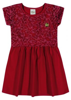 Vestido Infantil Verão Vermelho Tule Elian