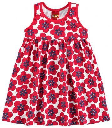 Vestido Infantil Vermelho Flor Kyly