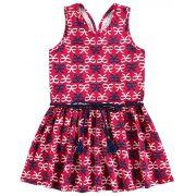 Vestido Infantil Vermelho Laço Kyly