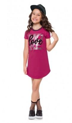 Vestido Infantil Moletinho Magenta - Kyly