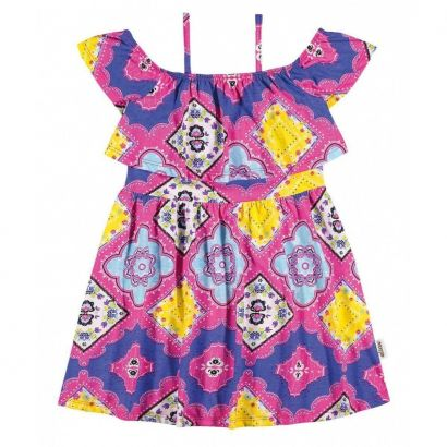Vestido Infantil Rosa Étnico Elian