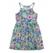 Vestido Infantil Verde Floral Elian