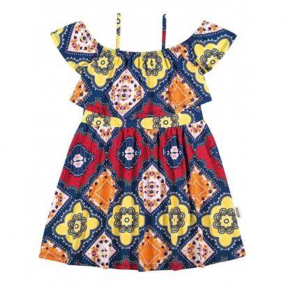 Vestido Infantil Vermelho Étnico Elian