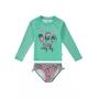 Biquini Infantil Proteção UV 50+ Verde Enjoy - Malwee