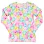 Blusa com Proteção UV Infantil Rosa Bolhas - Quimby
