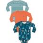 Body Bebê Masculino Inverno Kit 3 Azul Bichinhos - Kiko e Kika