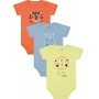 Body Infantil Masculino Verão Kit 3 Verde Lion - Kiko e Kika
