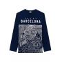Camiseta Infantil Masculina Estampada Azul Inverno Lemon