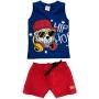 Conjunto Infantil Masculino Curto Azul Urso - Cacau Kids