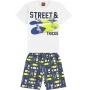 Conjunto Infantil Masculino Verão Branco Street - Kyly