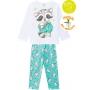 Pijama Infantil Feminino Anti-Mosquito Branco que Brilha no Escuro Inverno Kyly
