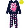 Pijama Infantil Feminino Azul que Brilha no Escuro Inverno Kyly