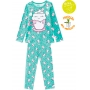 Pijama Infantil Feminino Verde Estampado Inverno Kyly