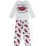Pijama Infantil Feminino Inverno Cinza Happy Dreams Brilha no Escuro - Kyly