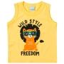 Regata Infantil Masculina Malwee Amarelo Wild Style