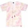 Saída de Praia Kimono Curto Infantil Rosa Tie Dye - Quimby