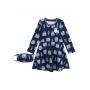 Vestido Infantil com Máscara Azul Inverno Milon