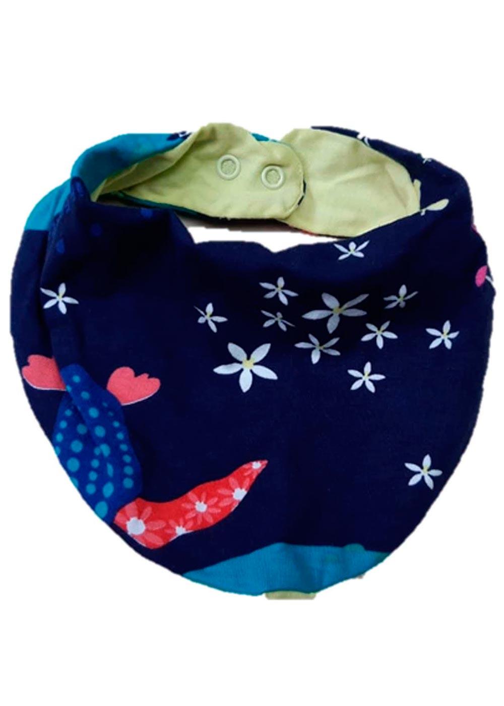 Babador Bandana Bebê Azul Baleia - Malwee