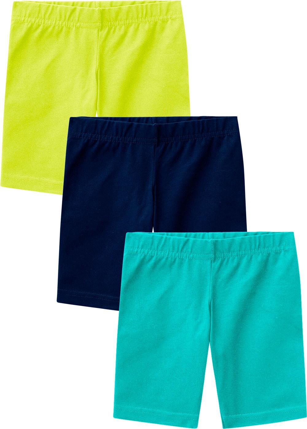 Bermuda Ciclista Infantil Feminina Kit 3 Verão Colors Malwee