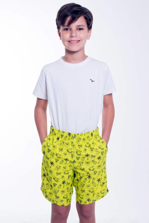 Bermuda Infantil Amarelo Cactus YachtMaster
