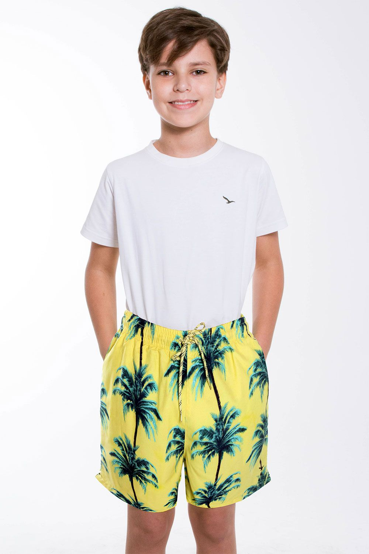 Bermuda Infantil Amarelo Coqueiro YachtMaster
