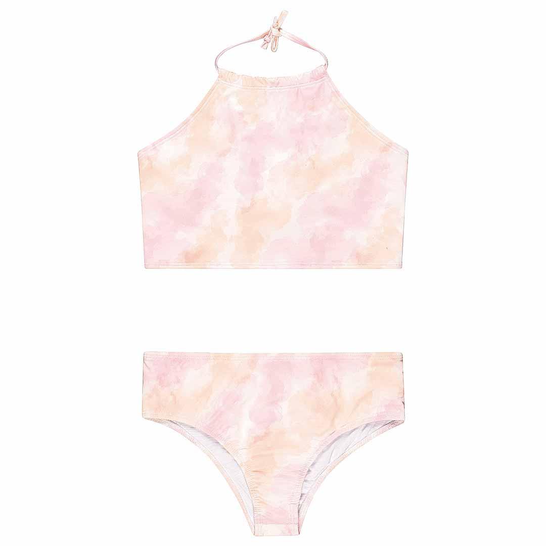 Biquini Infantil com Proteção UV Rosa Tie Dye - Quimby