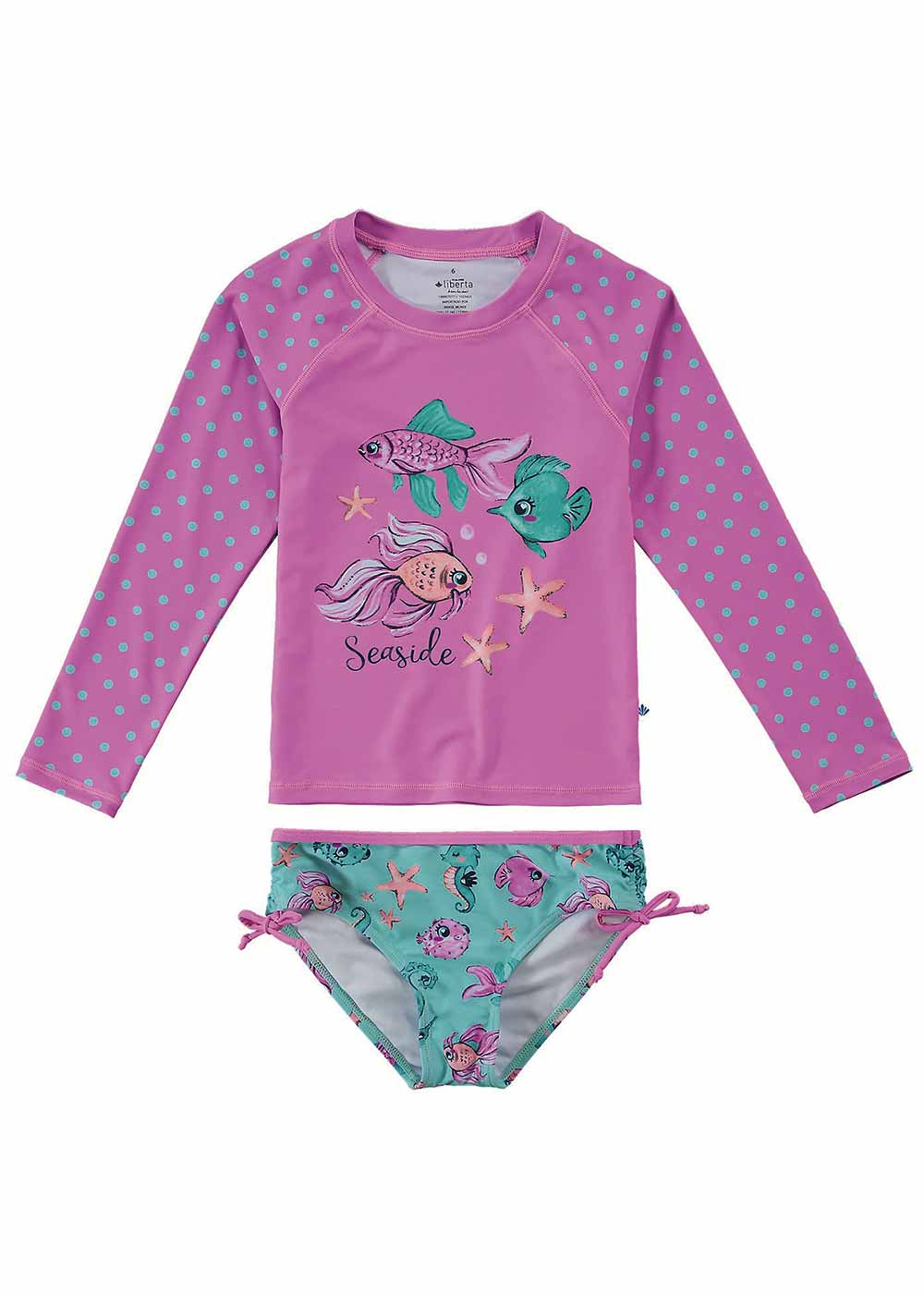 Biquini Infantil Proteção UV 50+ Rosa Seaside - Malwee