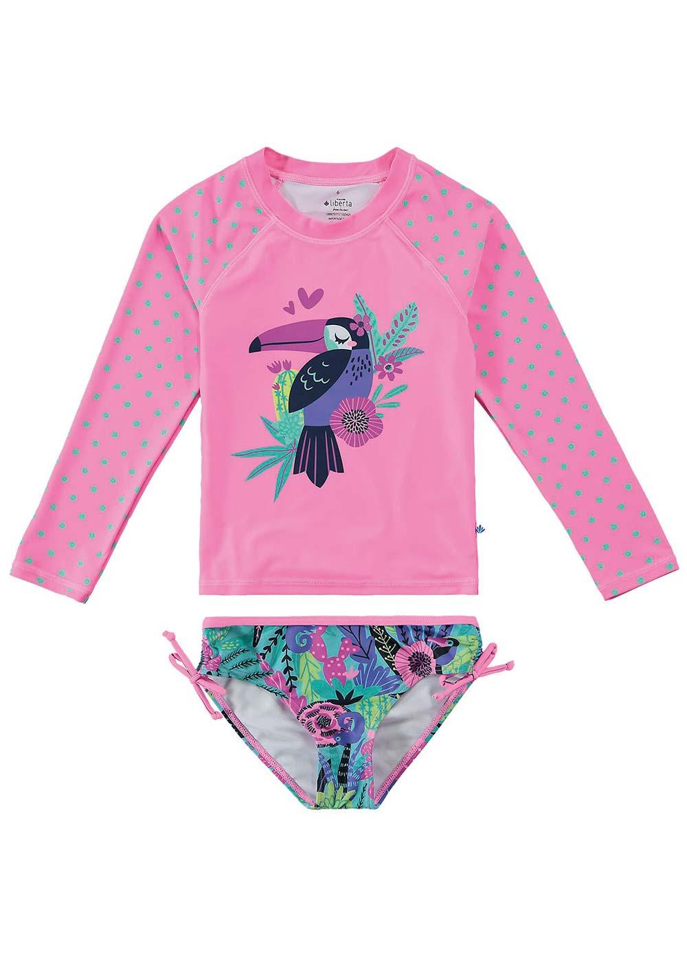 Biquini Infantil Proteção UV 50+ Rosa Tucano - Malwee