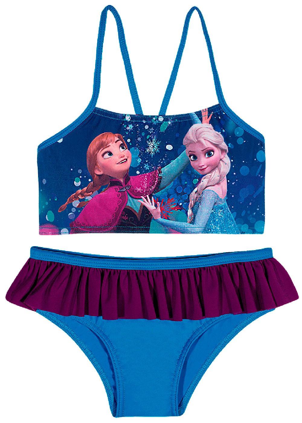 Biquini Infantil Verão Azul Frozen Tip Top