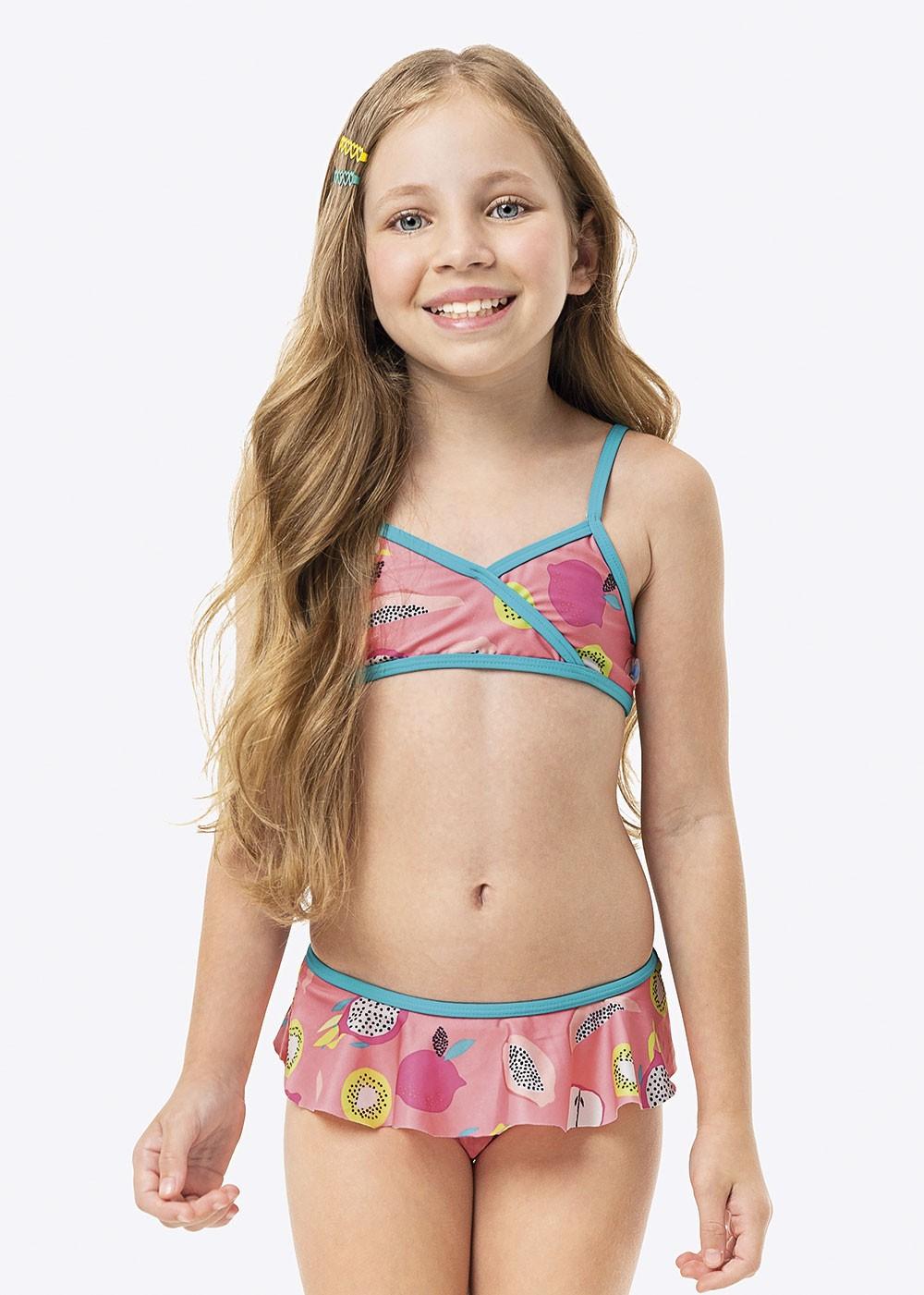 Biquini Infantil Verão Rosa Fruits Malwee
