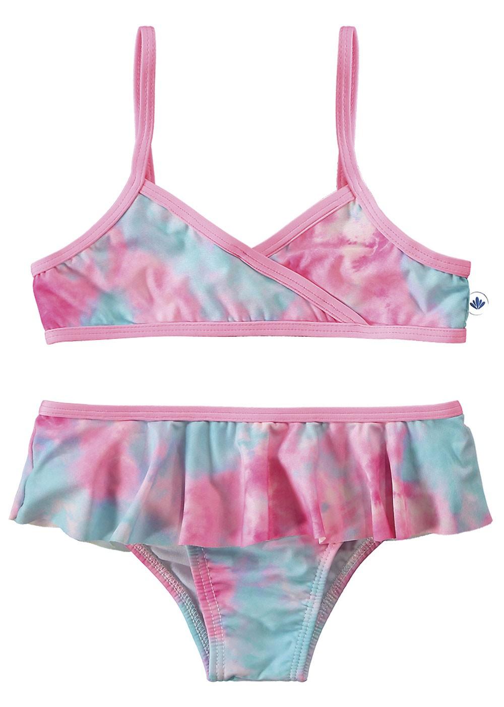 Biquini Infantil Verão Rosa Tie Dye Malwee