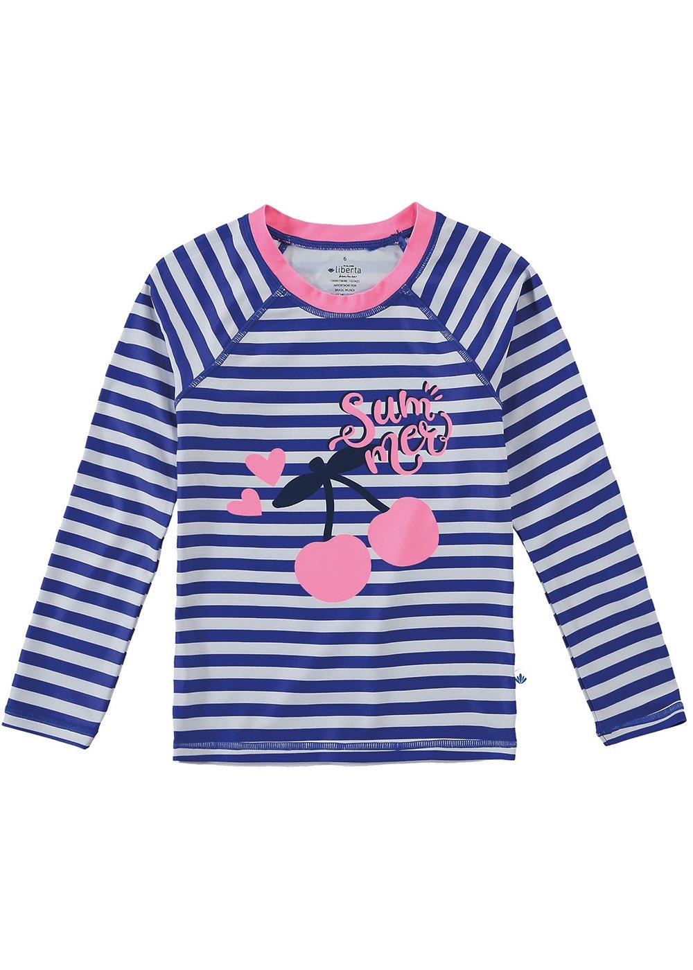 Blusa com Proteção UV Infantil Feminino Verão Azul Summer - Malwee