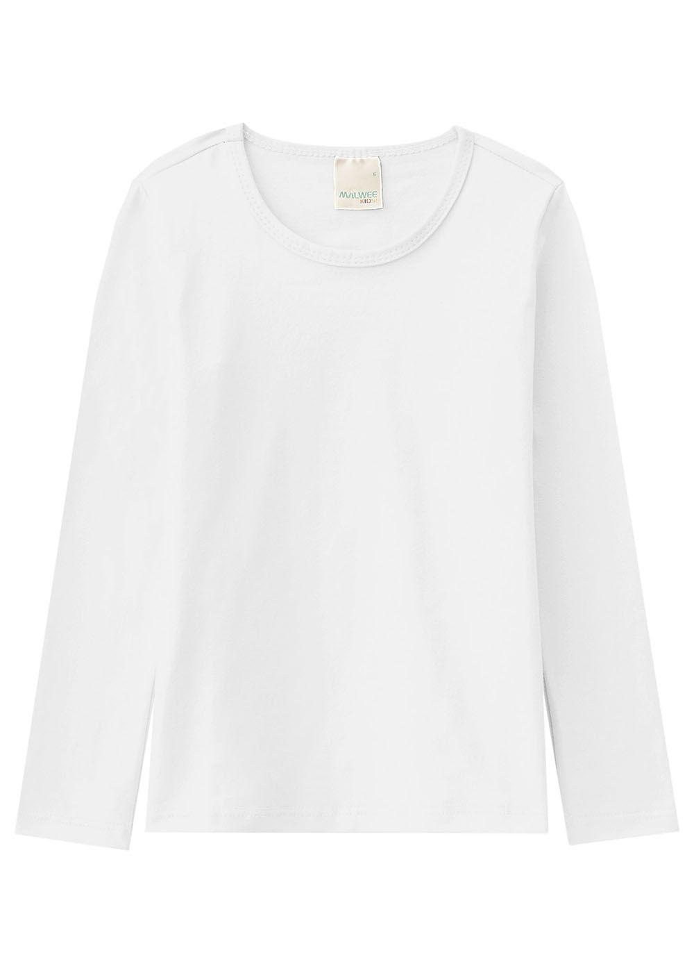 Blusa Infantil Feminina Inverno Branca Malwee
