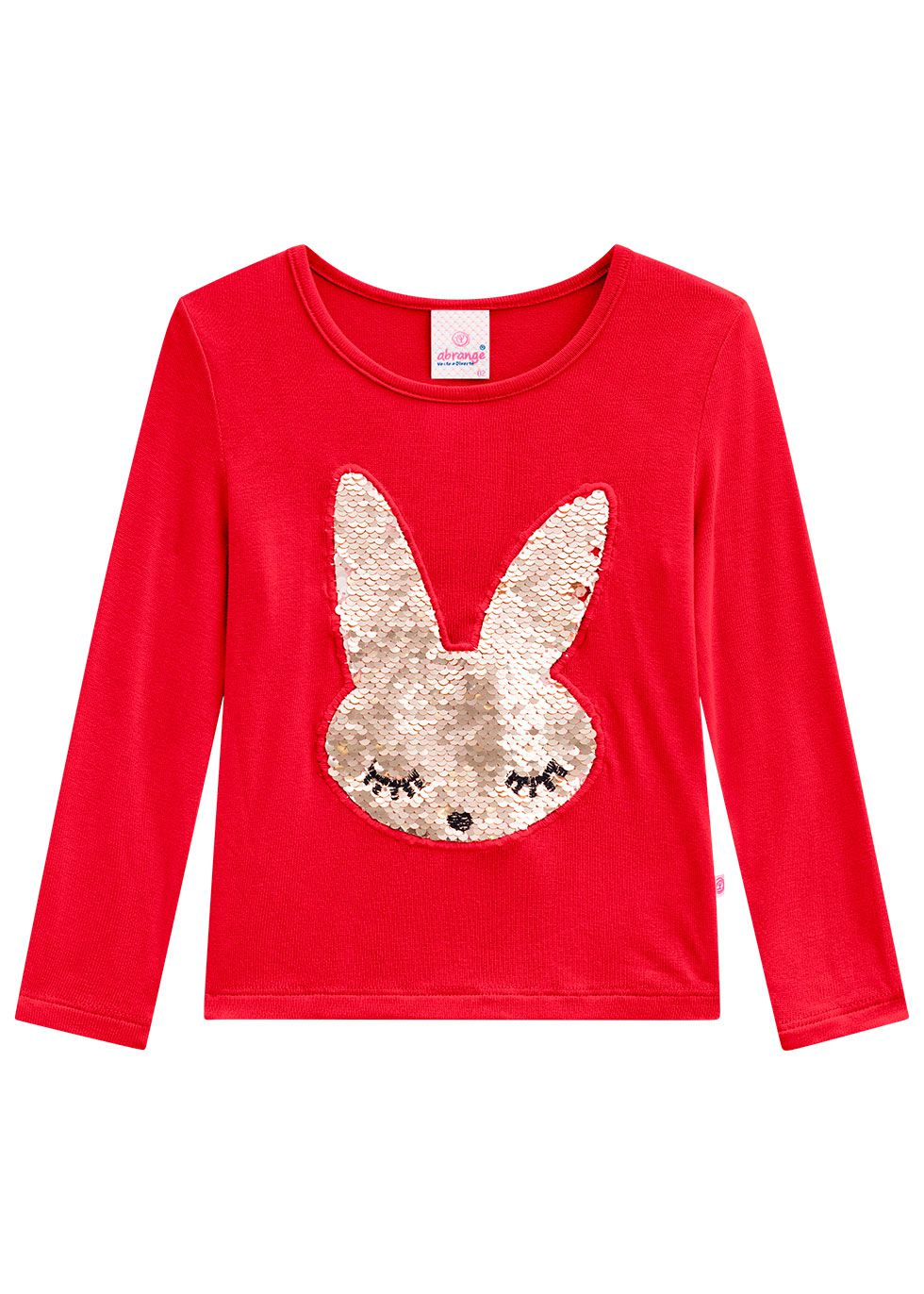 Blusa Infantil Feminina Inverno Vermelha Bunny Abrange