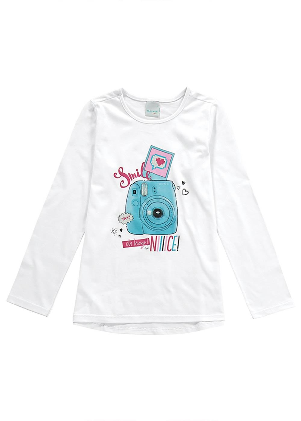 Blusa Infantil Feminina Inverno Kit 3 Peças Estampas Variadas - Malwee