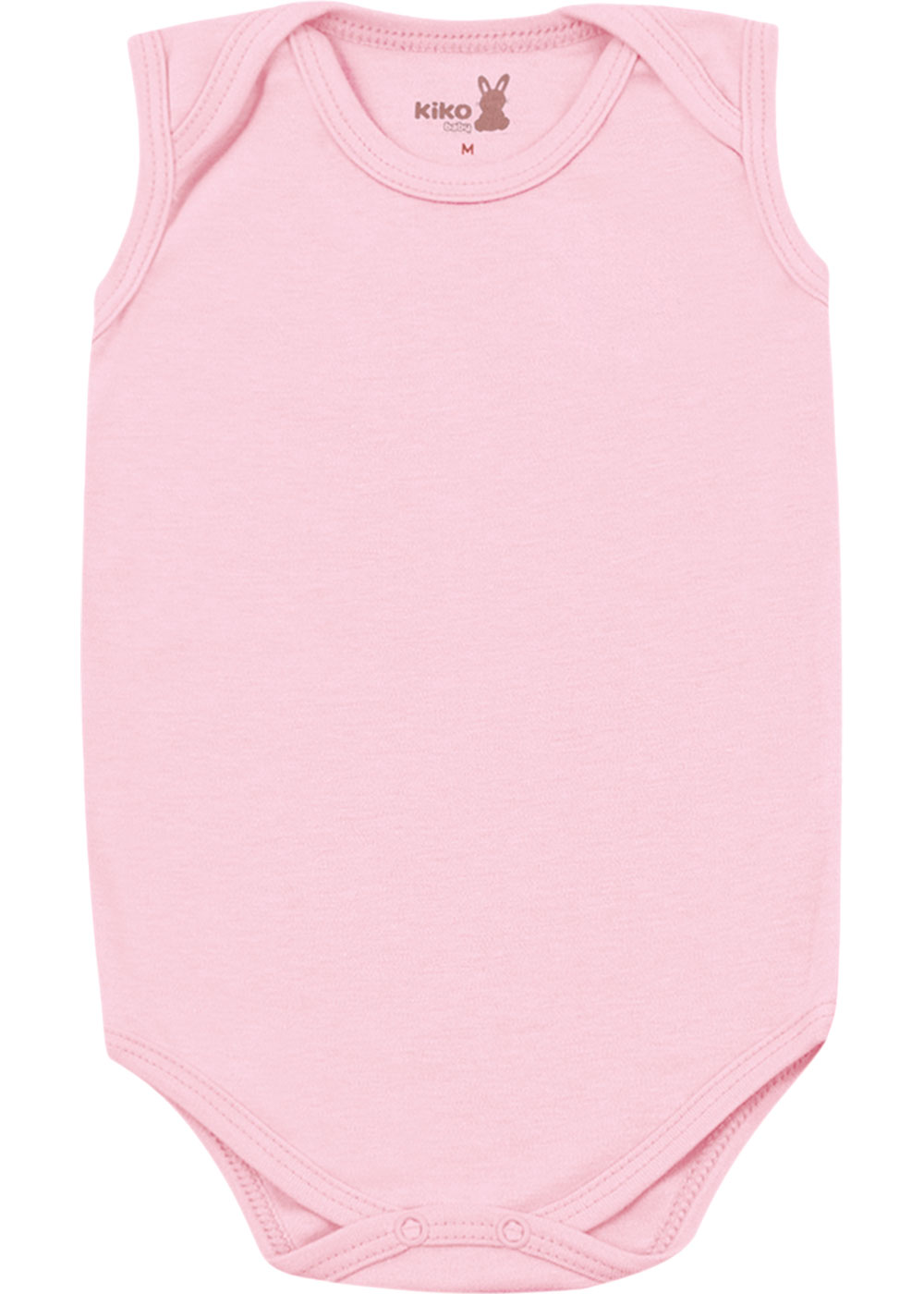 Body Bebê Feminino Verão Kit 3 Rosa Lisos - Kiko e Kika