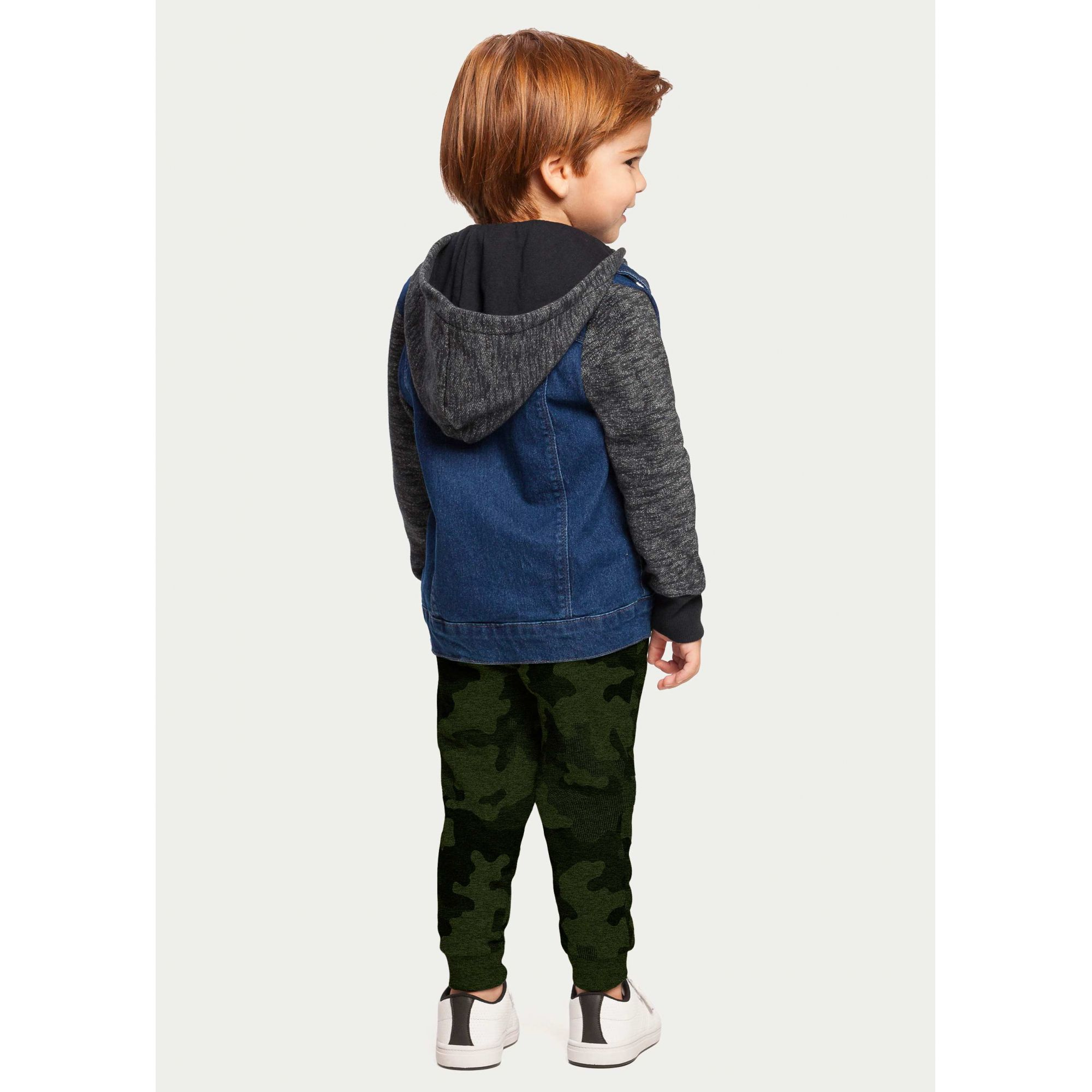 Calça Infantil Masculina Inverno Verde Camuflada com Punho Alakazoo